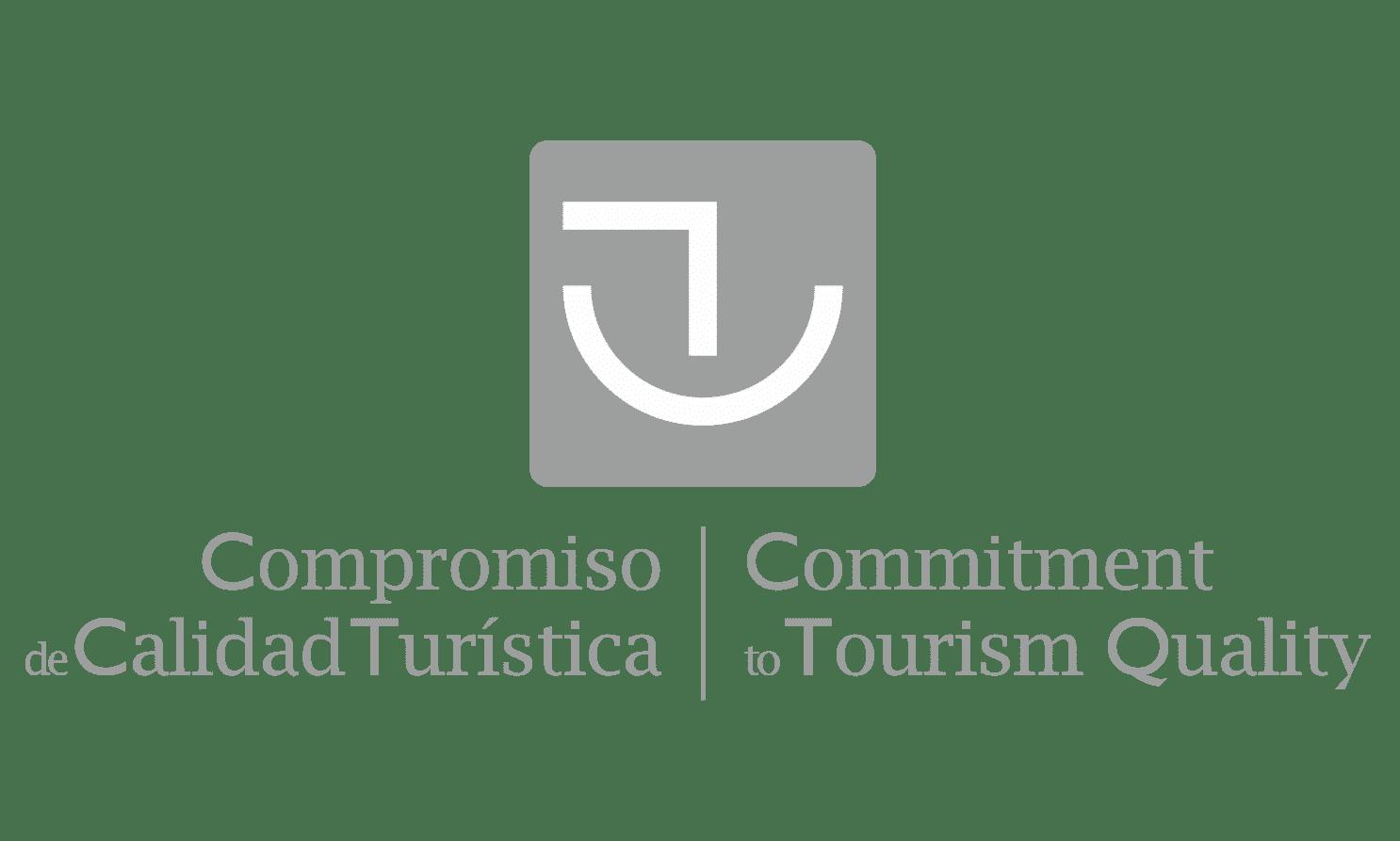 Grey logo from Compromiso de Calidad Turística
